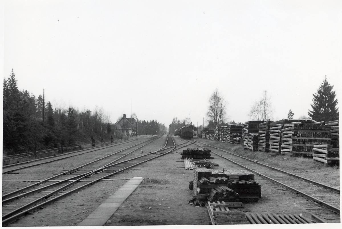 Hestra station sett mot Borås.