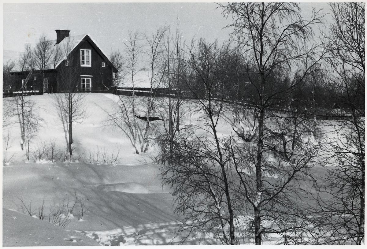 Vy över bostadshus i Bergfors.