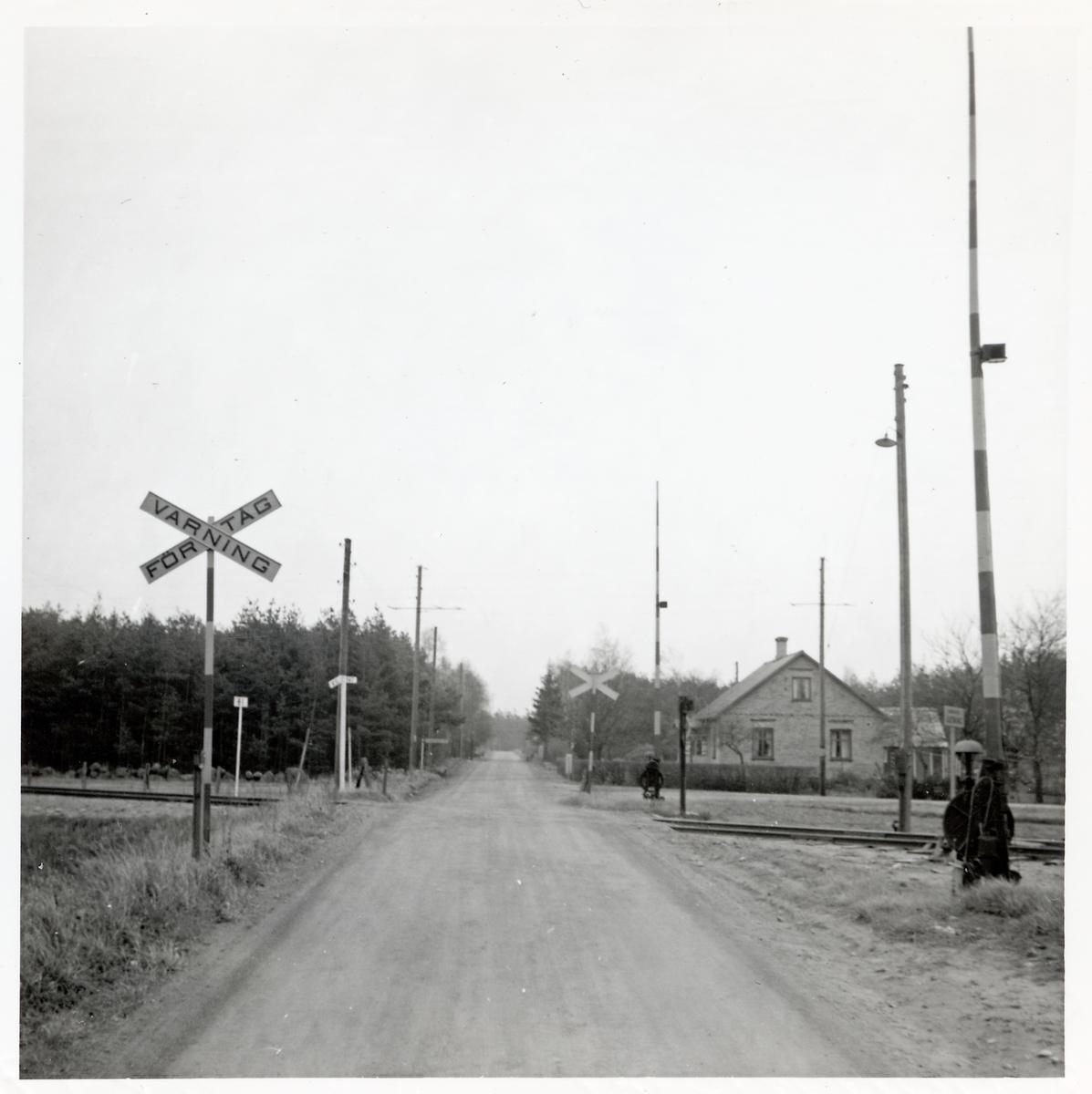 Järnvägsövergång vid Gringelstad station, på sträckan mellan Långebro och Everöd.