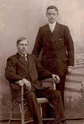 Egill Christensen  og Alf Aarnes i Tromsø ca 1915-1925.