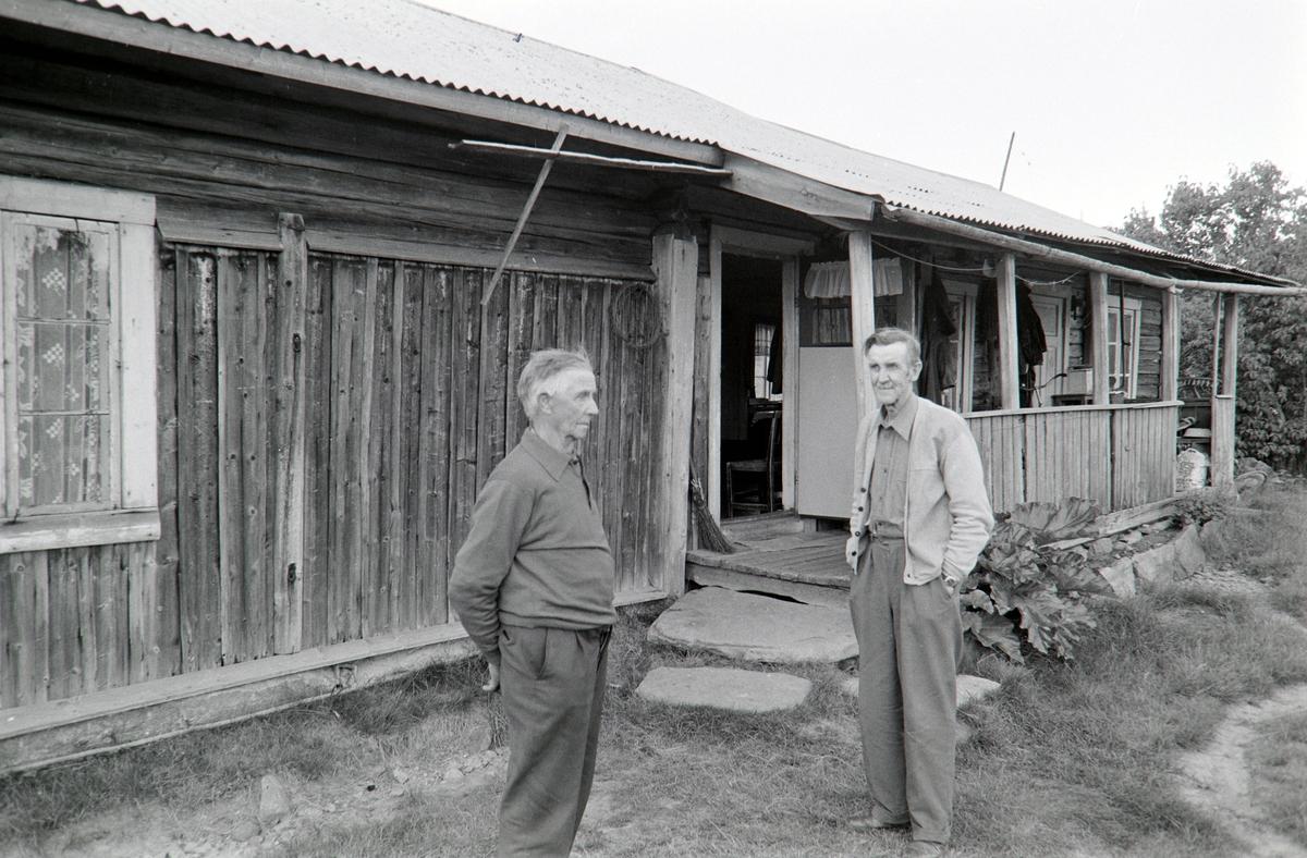 Sollien i Grue Finnskog, Solør. Abel og Johan Sollien.