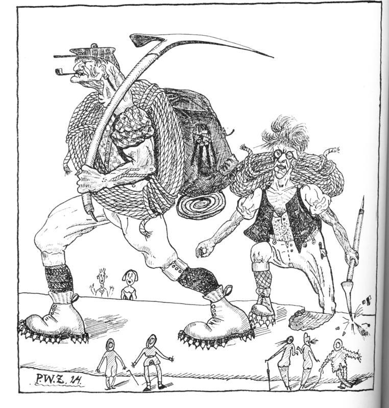 Illustrasjon av Peter Wessel Zapffe.