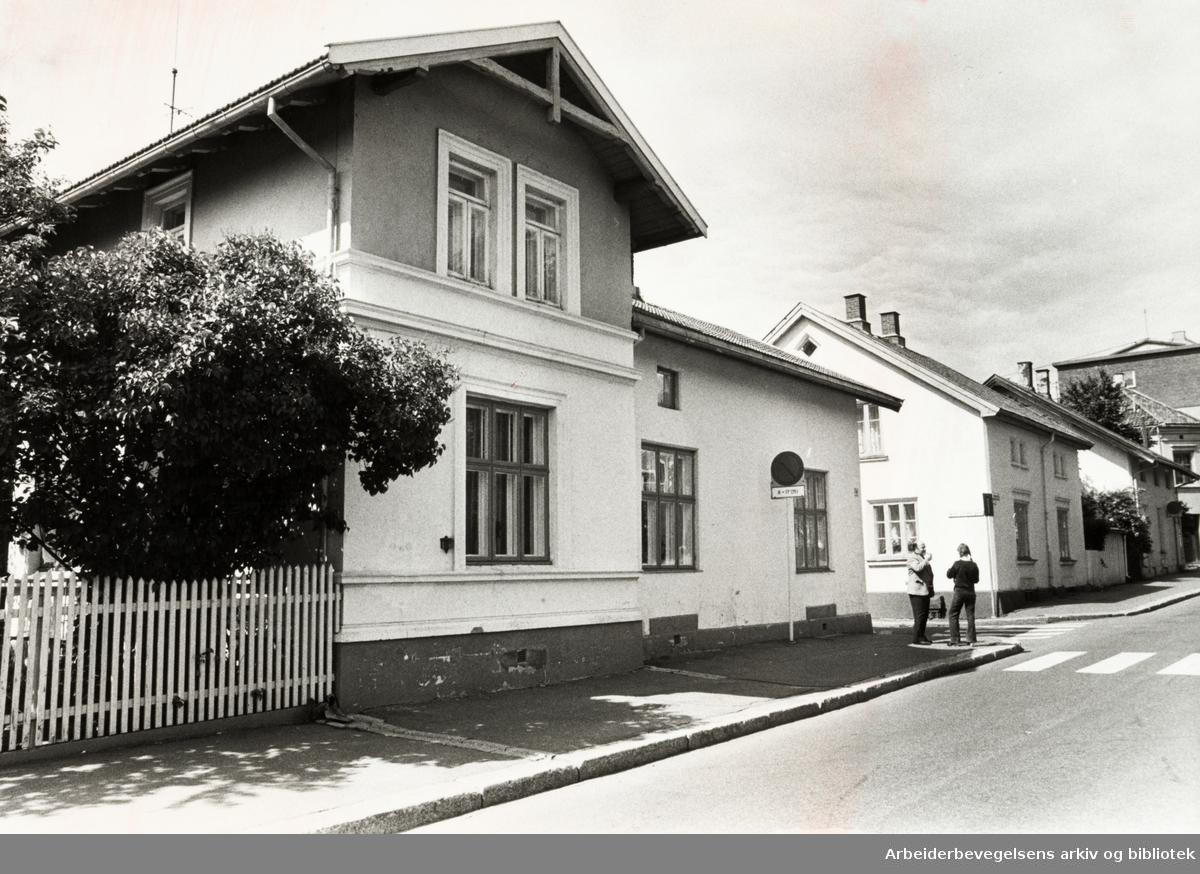 Geitmyrsveien. September 1981