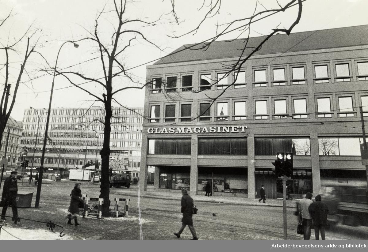 Glassmagasinet. Christiania Glasmagasin. November1973