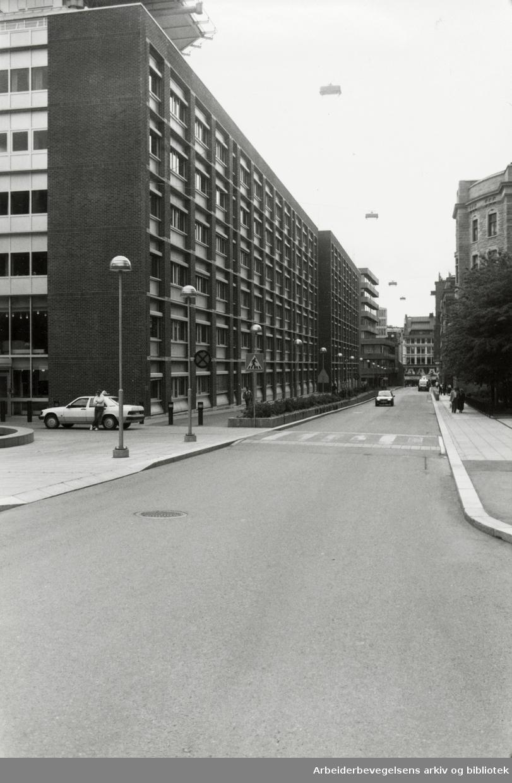 Grubbegata. Regjeringskvartalet. August 1992