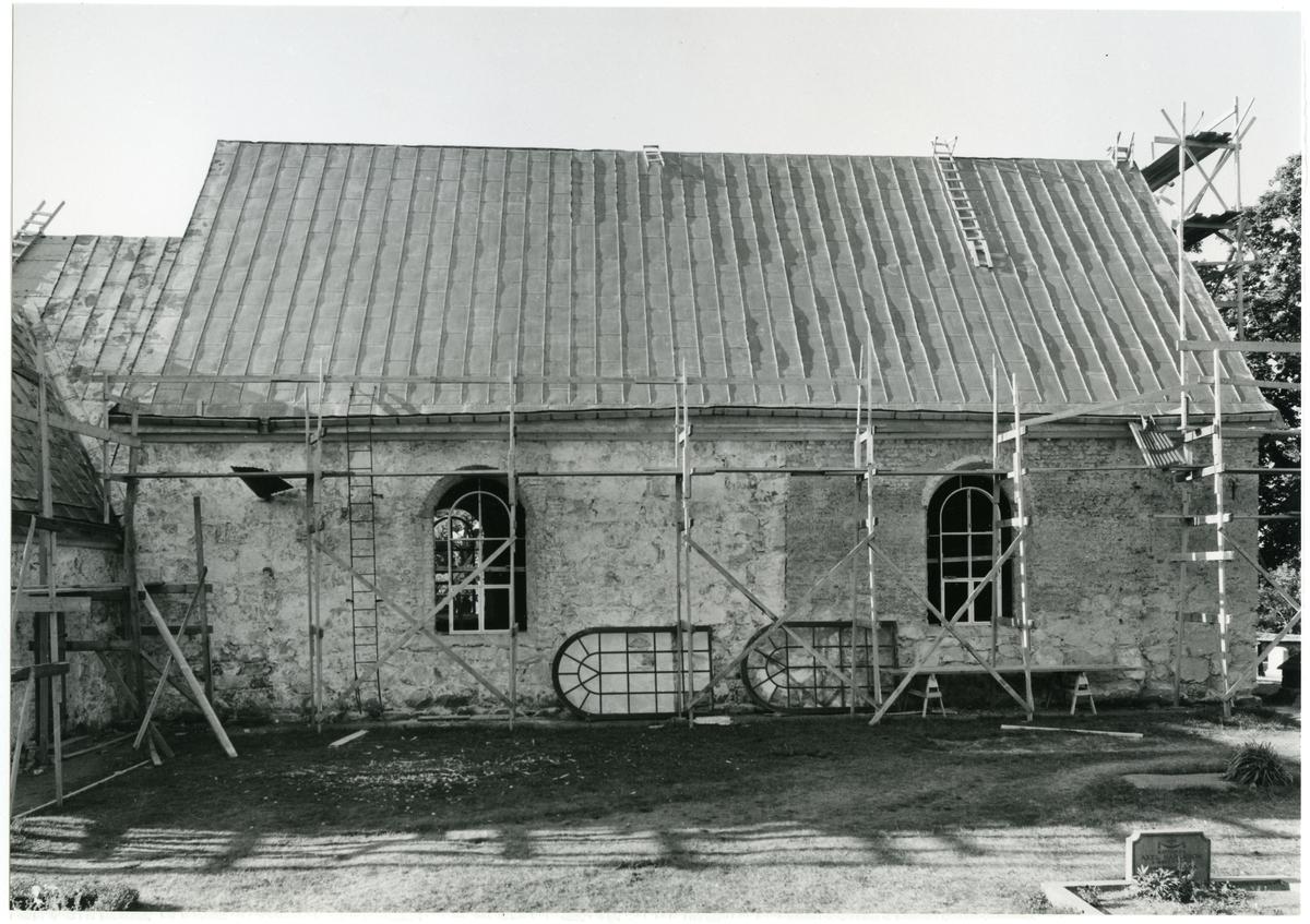 Badelunda sn, kyrkan. Kyrkan vid restaurering 1959.
