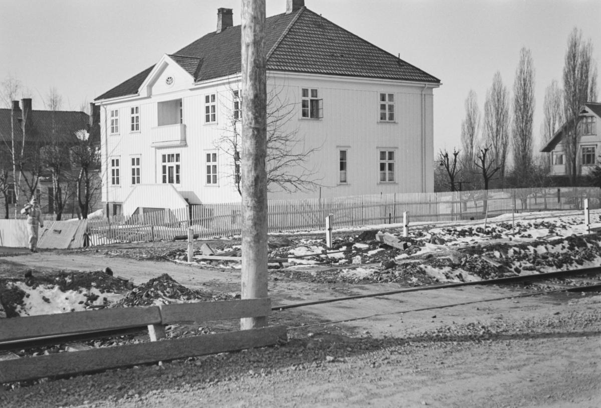 Omleggingen av Røabanen ved Heggeli i forbindelse med bygging av dobbeltspor.