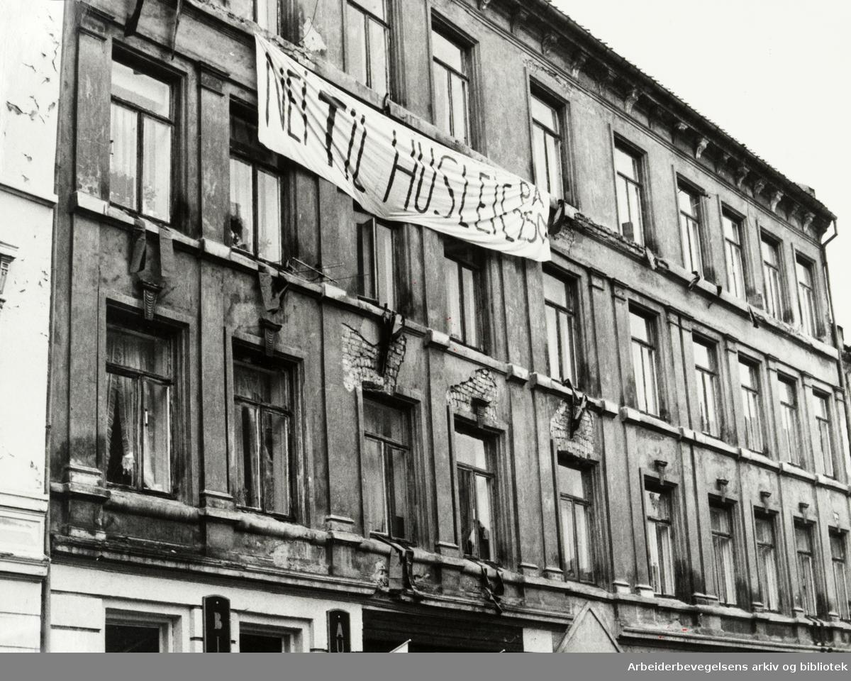 Grønland. Beboere protesterer mot rivevedtak. 9. november 1982
