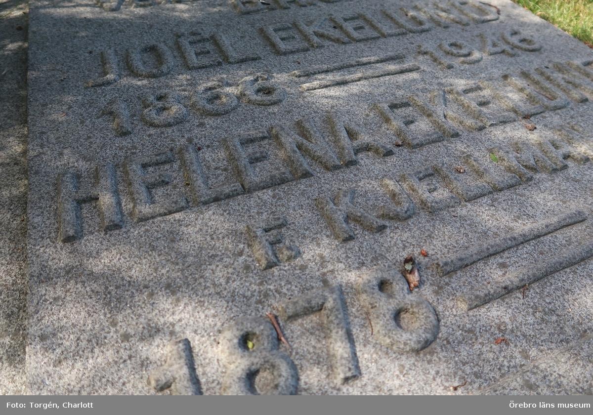 Motiv: Inventering av kulturhistoriskt värdefulla gravar på Knista kyrkogård.  1-46: Gravvårdar på västra delen av kyrkogården.   Foto: 1-46: Charlott Torgén, Örebro läns museum  Se även:  OLM-2019-363 OLM-2019-364 OLM-2019-365 OLM-2019-366 OLM-2019-367  Övrigt:  Diarienr. 2016.230.119