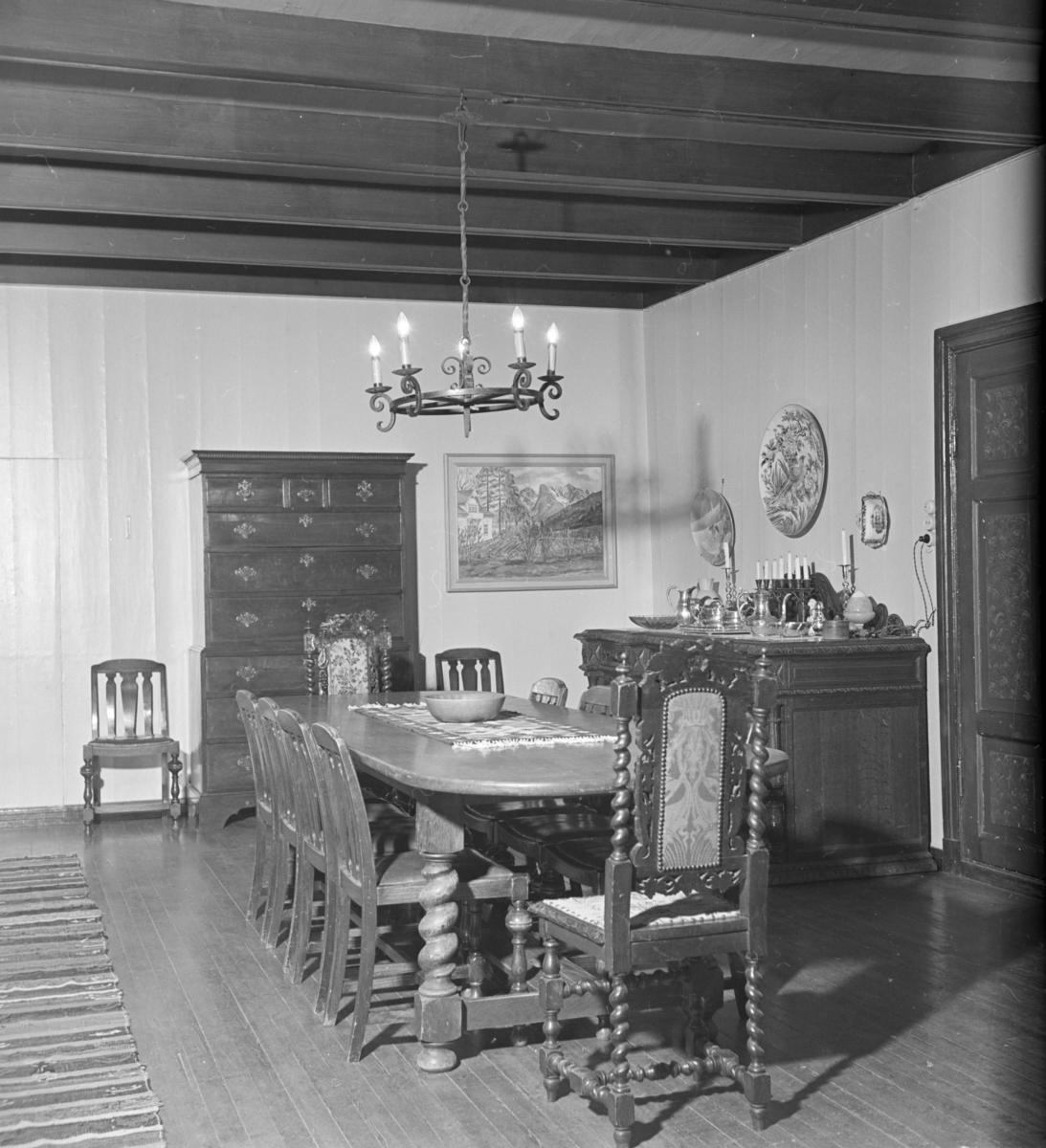 Interiørbilde fra Østre Gausdal prestegård