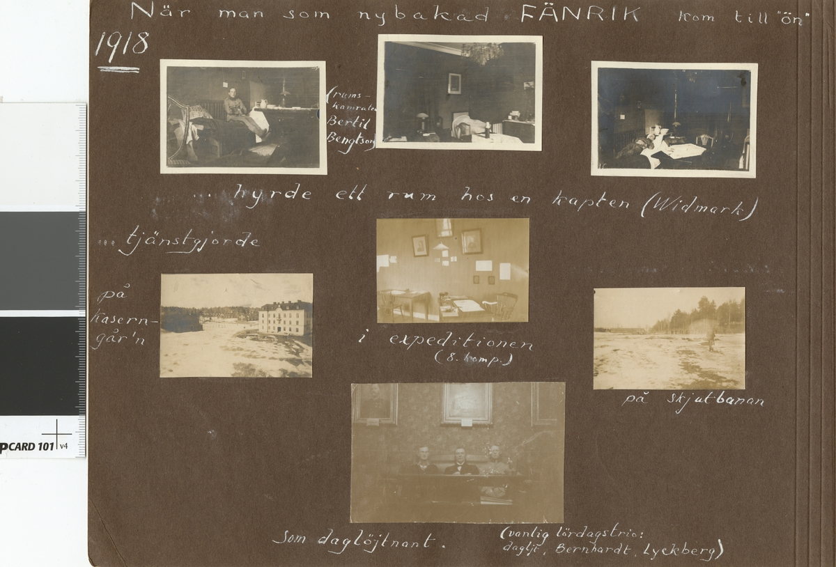 Interiörbild med soldat från Vaxholms grenadjärregemente I 26.