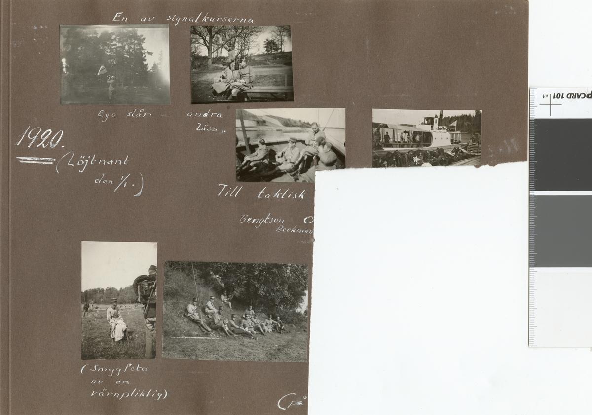 """Text i fotoalbum: """"En av signalkurserna""""."""