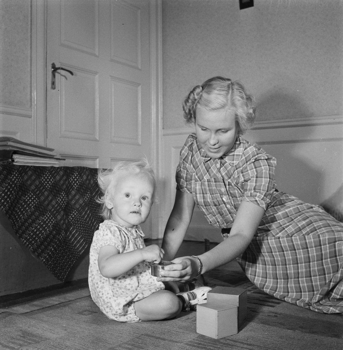 Barn till redaktör Hugo Wortzelius, Uppsala, juli 1952