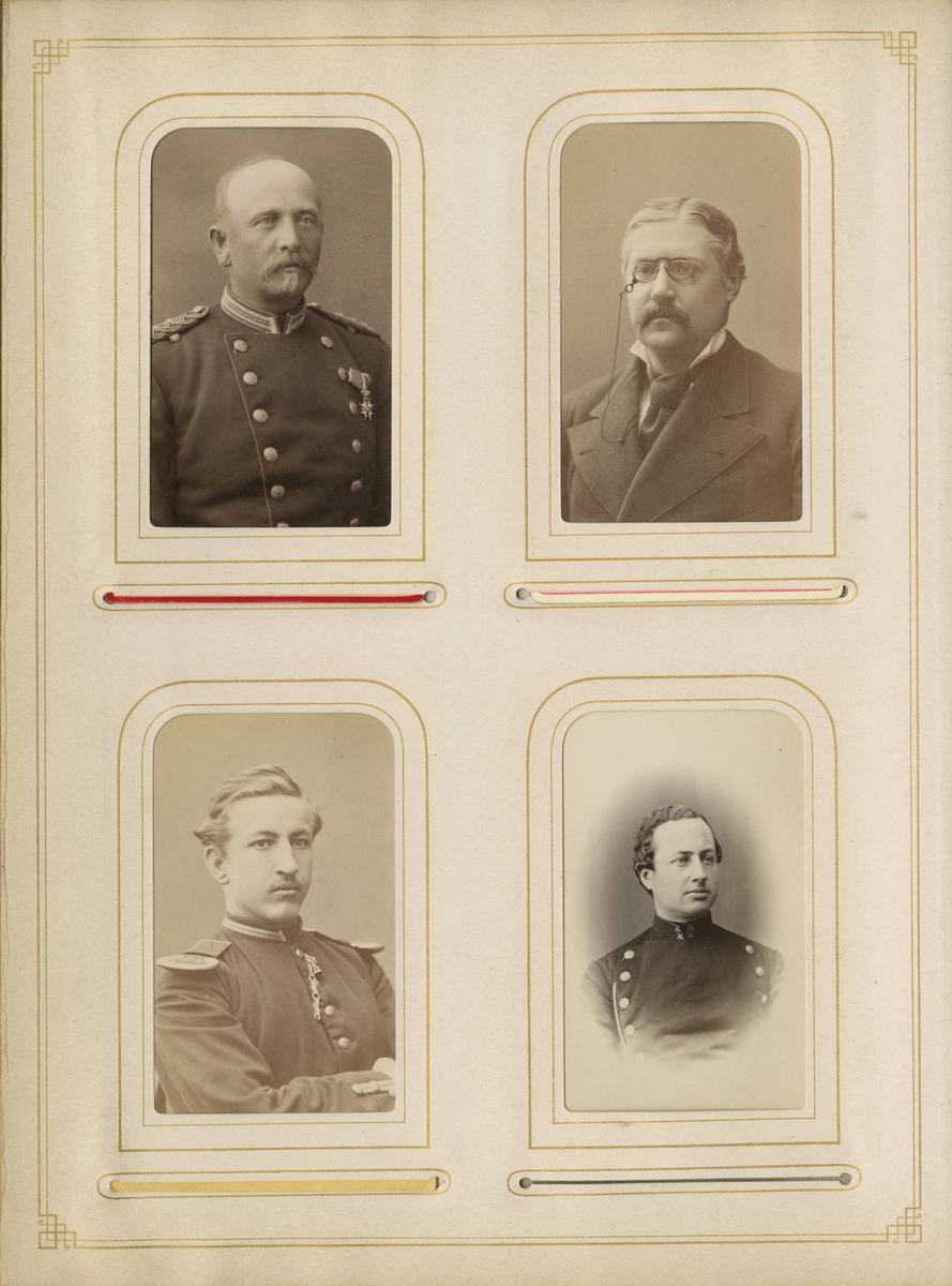 Porträtt av Carl Frithiof Löfgren, kapten vid Värmlands regemente I 22.