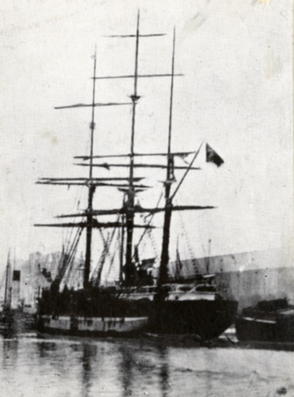 Bark 'Gefion' (b.1866, Gjømle værft (Nils Ribe / Ole Kittelsen), Fjære, Grimstad, Norge)