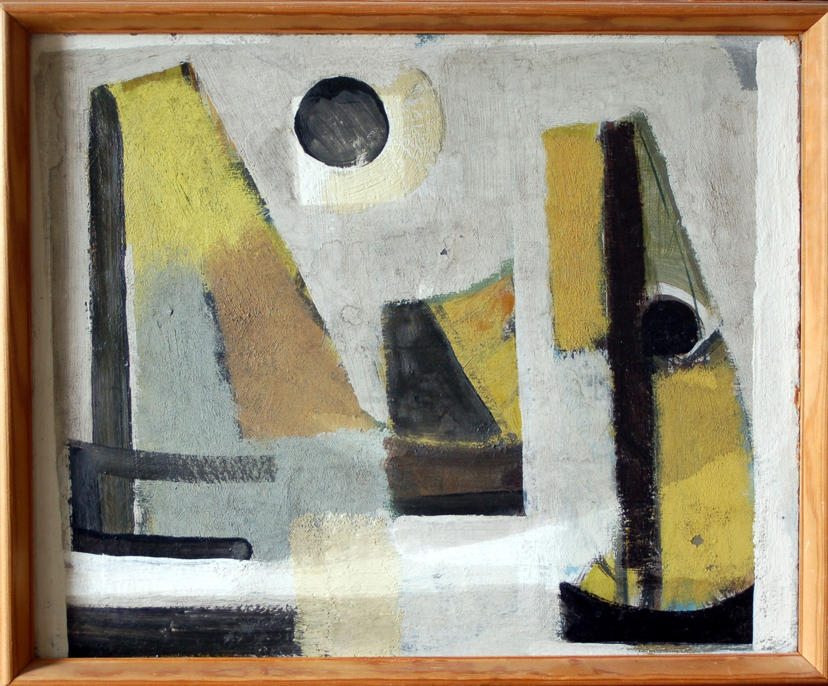 Oljemålning, utan titel, Hugo Wickman, ca 1955-1956.