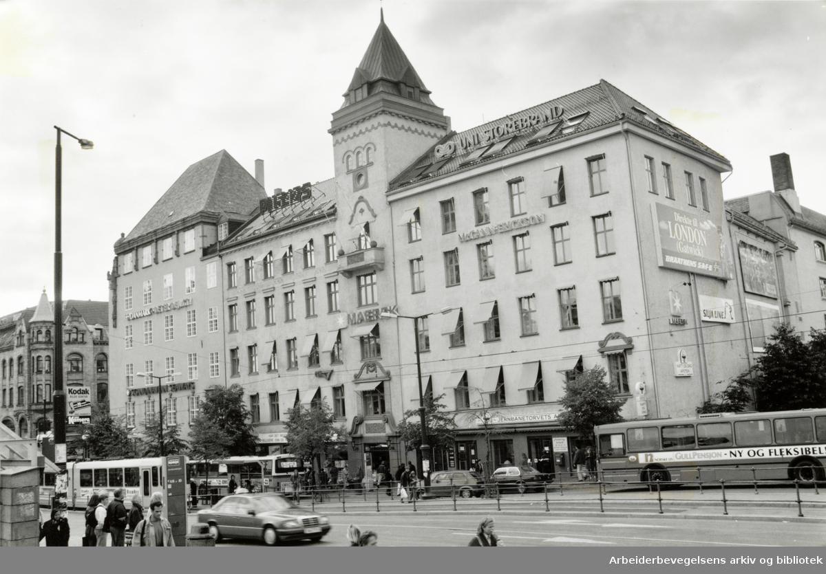 Jernbanetorget. September 1993