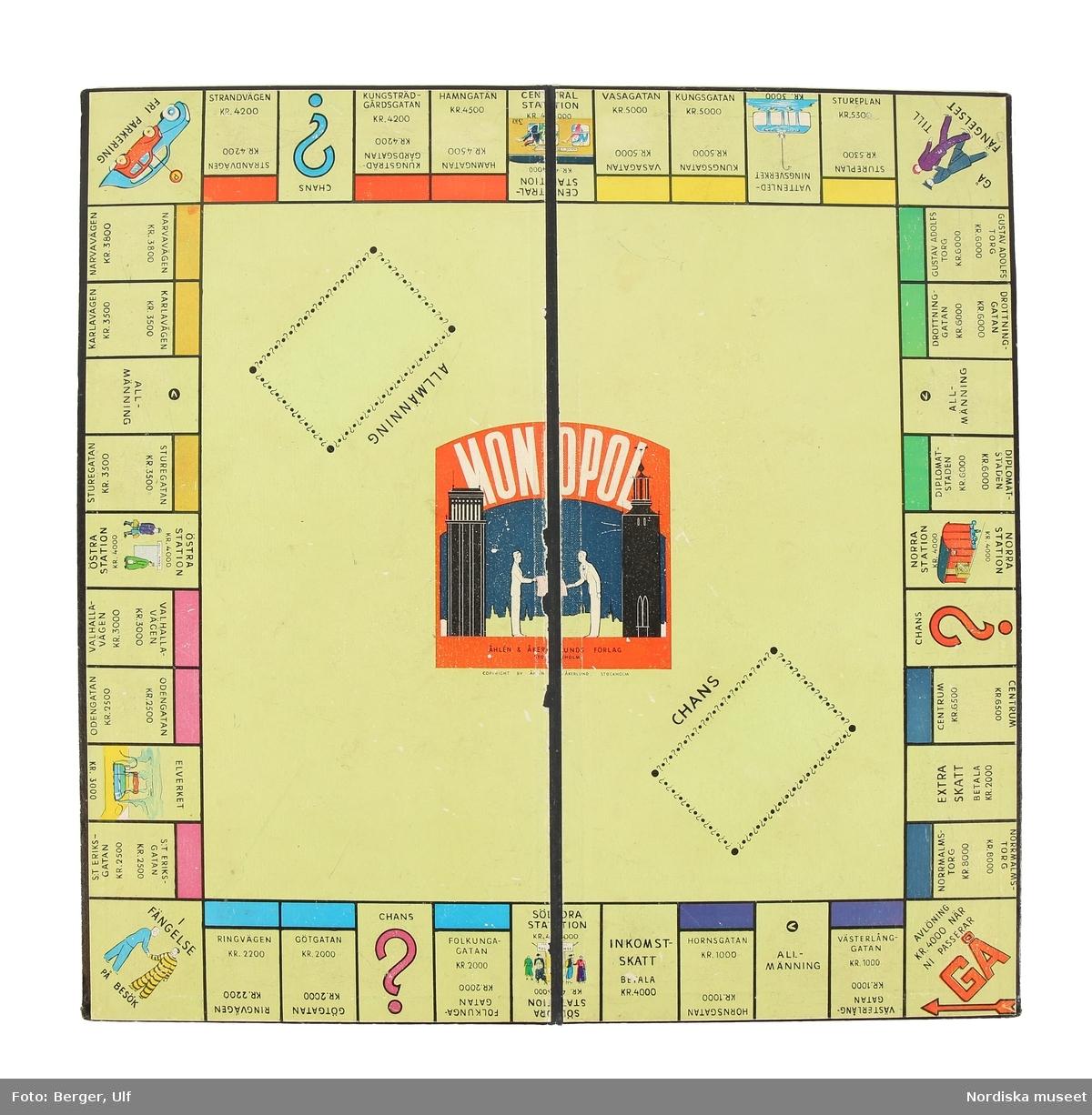 Monopol spelplan