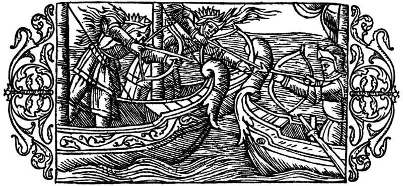 Scene fra Olaus Magnus bokverk Historia de gentibus septentrionalibus («De nordiske folkenes historie»), utgitt i Roma i 1555.