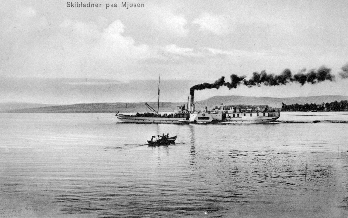 Repro: Postkort, D/S Skibladner på Mjøsa.