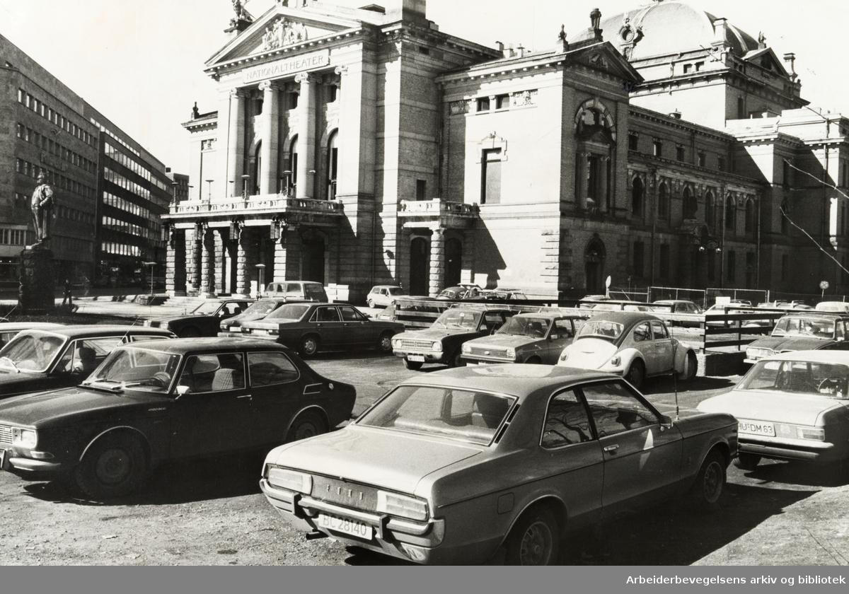 Nationaltheatret. April 1978