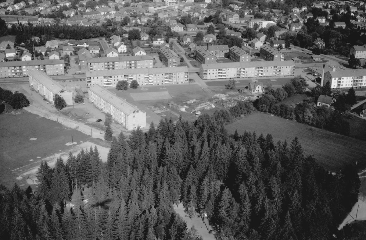 Flygfoto över Värnamo i Jönköpings län. Nr: 156/1960
