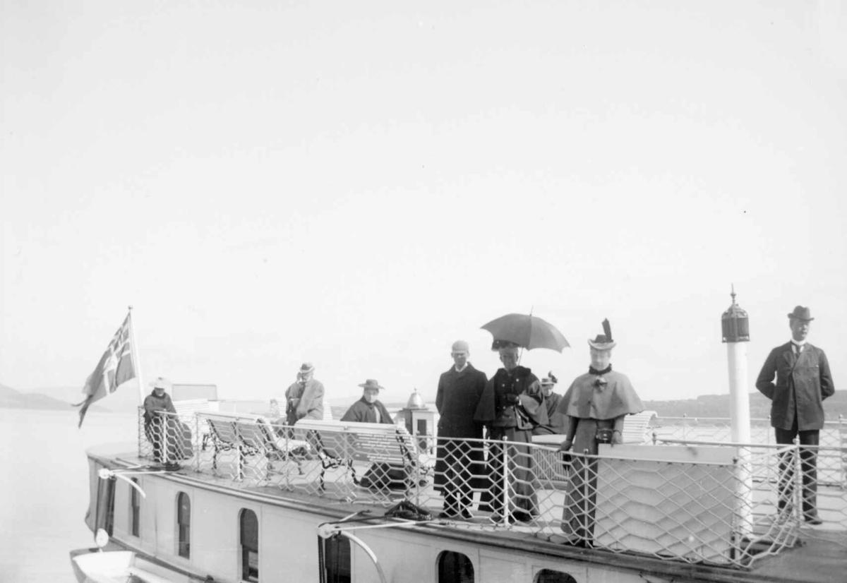 Ombord i DS Skibladner på Mjøsa.