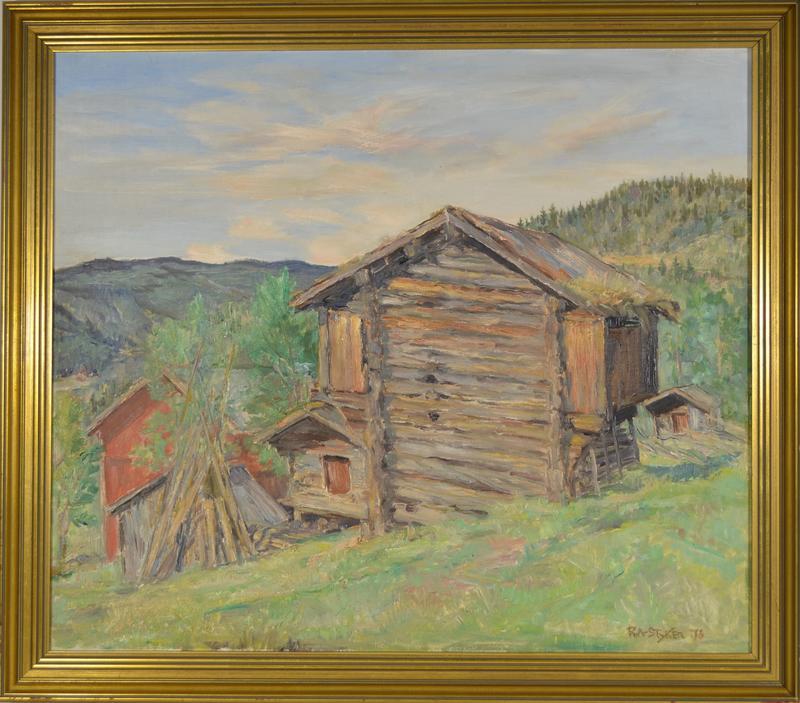 Ralph Styker. Sørre Garli, oljemåleri 1970-1979.