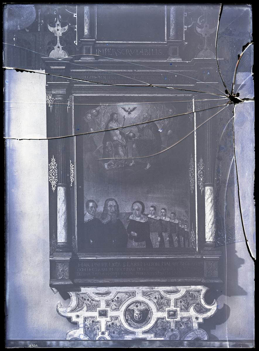 Epitafium över målaren Lars Matson, Västerås Domkyrka.