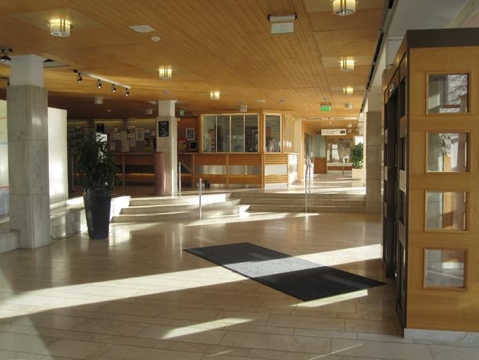 Interiör från Värnamo stadshus i Värnamo stad och kommun.
