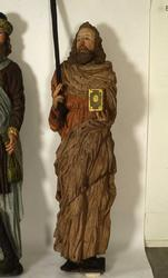 Träskulptur föreställande aposteln Jacob den yngre i Braheky
