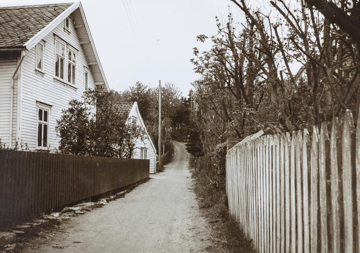 Parti fra Lillesund sett mot øst, ca. 1935.