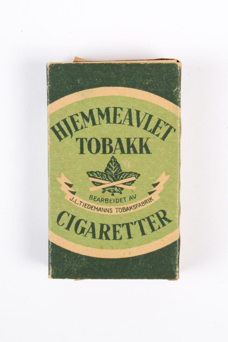 Tobakkseske med innhold.