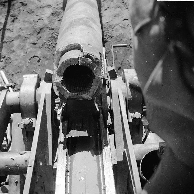 Haubits m/1939. 15 cm. Pjässprängning, Skillingaryd. A 6