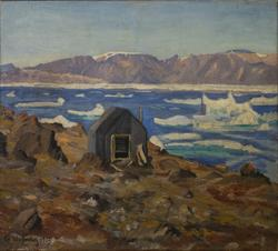 Røbekhytta, Kapp James, Claveringsfjord, Eirik Raudes land [