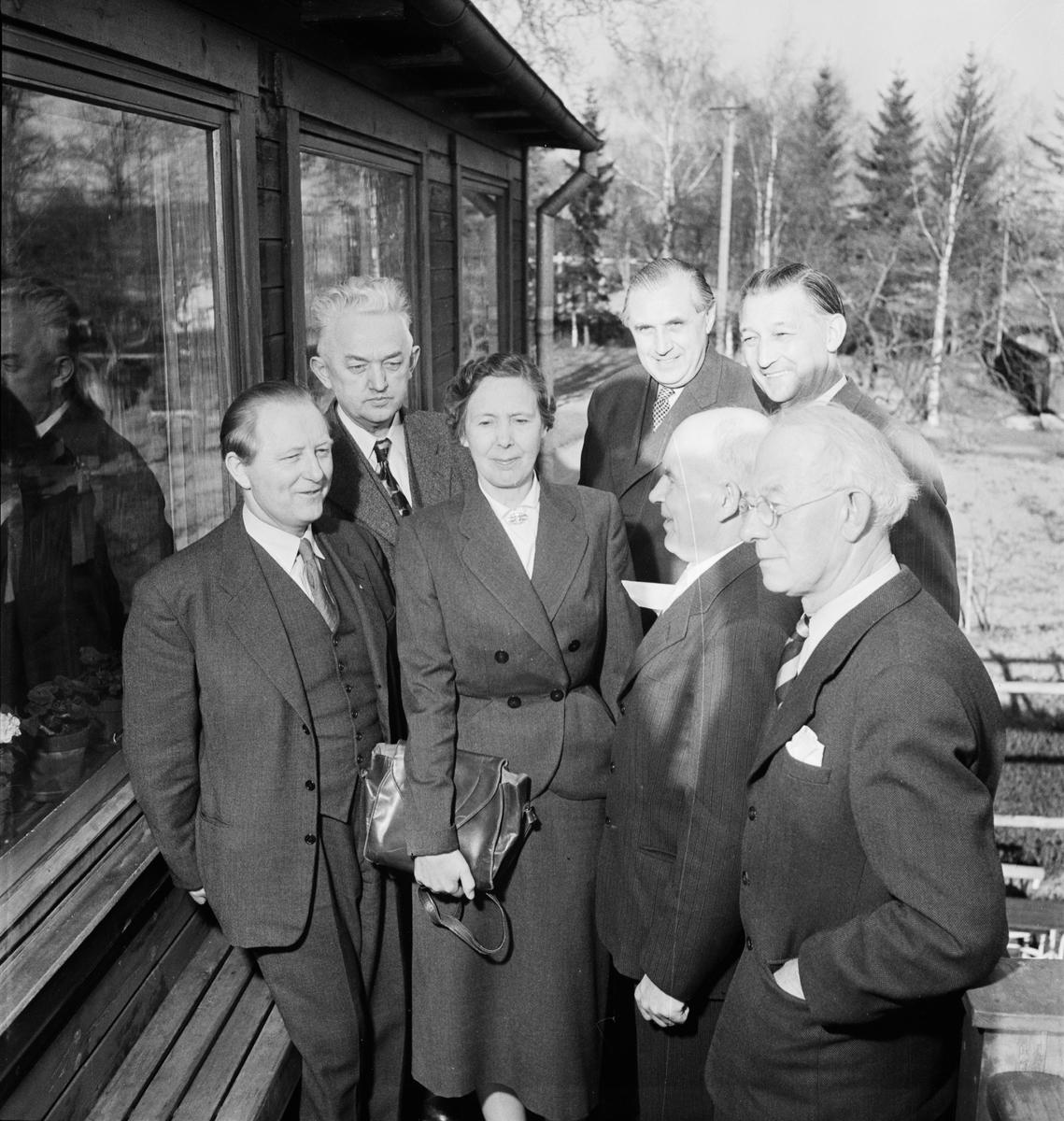 ABF - föreläsningsförbundet på Disagården, Uppsala 1953