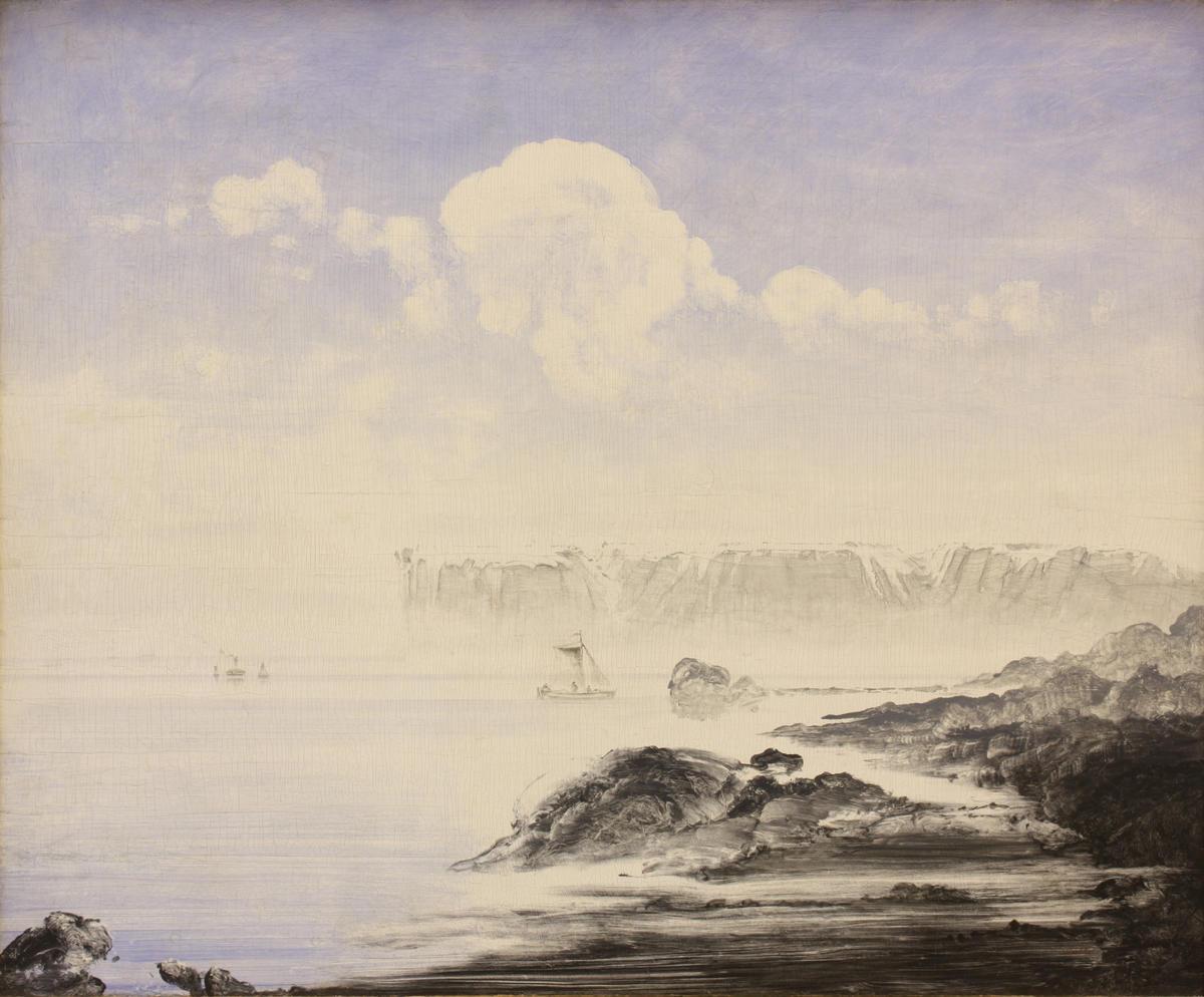 Peder A. Balke (1804 – 1887); Nordkapp, malt 1870-årene, olje på treplate, 124 x 152 cm, innkjøp 1974