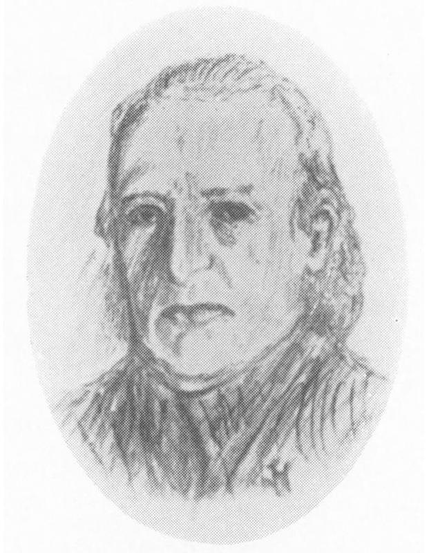 Doktor Niels Høegh (1805-1842). Tegning hentet fra Bygdebok for Skedsmo av H. Haavelmo. (Foto/Photo)