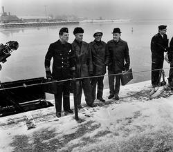 Varvet runt- en bildutställning Leveransbesiktning av ubåte