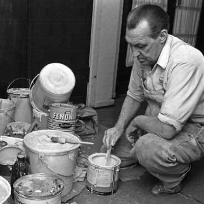 Maler i arbeid (Foto/Photo)