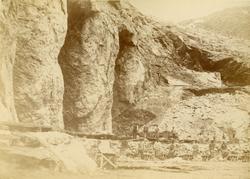Svenska Grönlandsexpeditionen 1883. Kryolitbrottet i gruvort