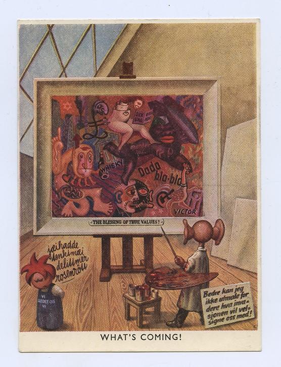 """""""The Grand Window Nr. 23"""" av Harald Damsleth for Nasjonal Samling, 1943"""