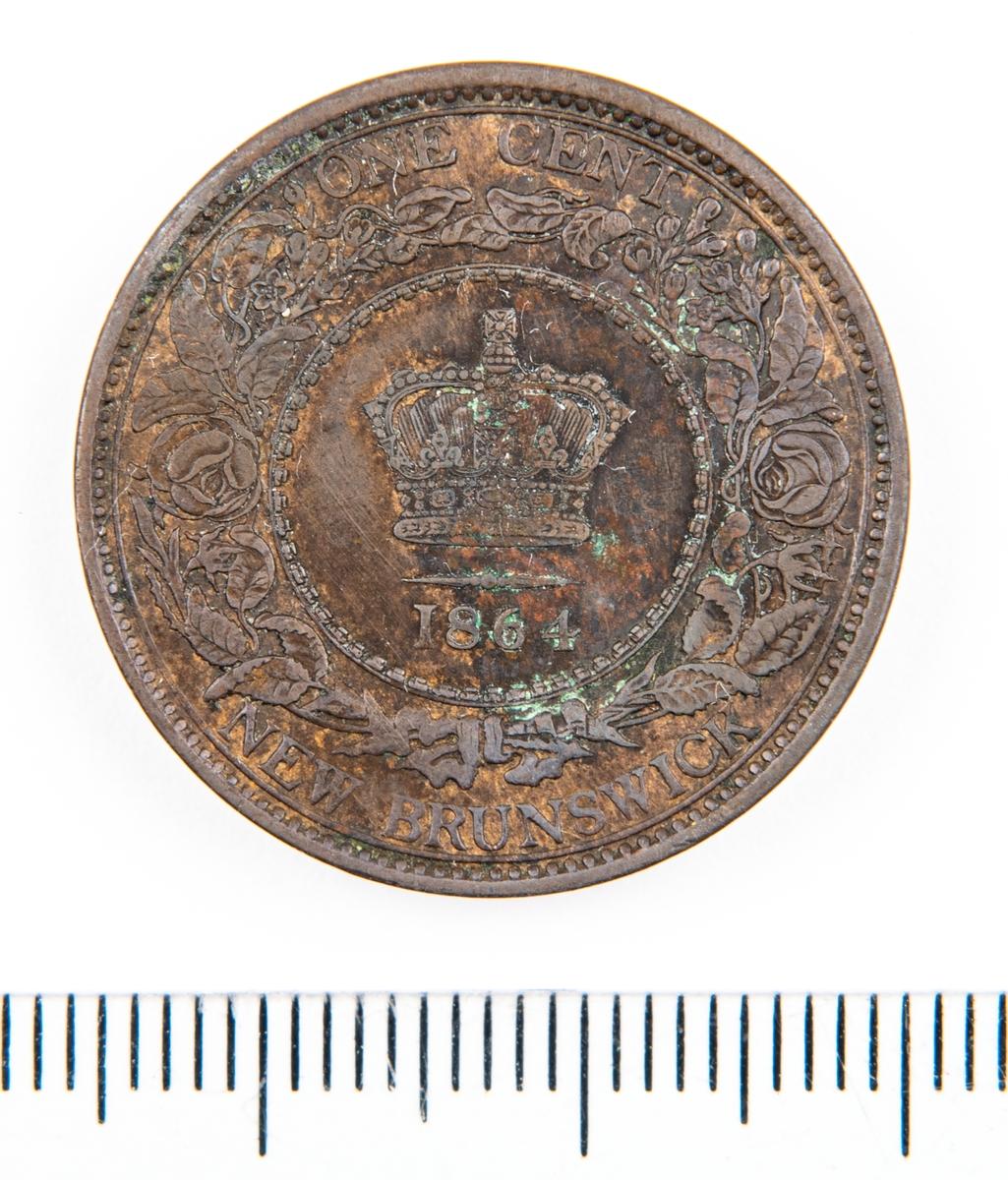 Mynt, Canada, 1864, 1 Cent.