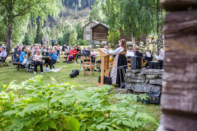 Frå hundreårsjubileet til Bagn Bygdesamling, 22. august 2020. Foto: Ingri Valen Egeland. (Foto/Photo)