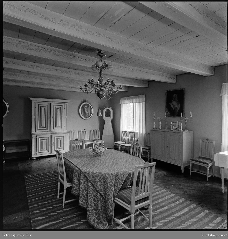 Ånhammar, herrgård, interiör, Gryts socken, Södermanland.