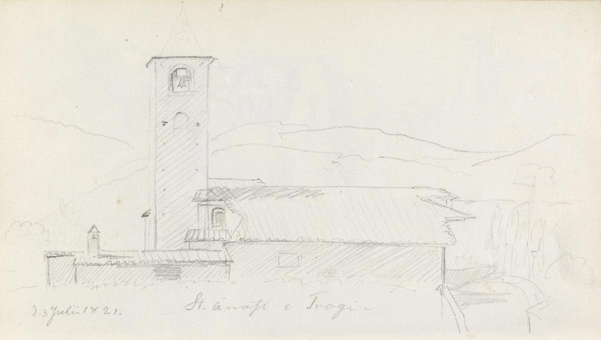 Kirkebygning [Tegning]