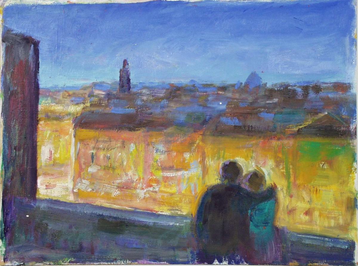 Et par ser utover byen.