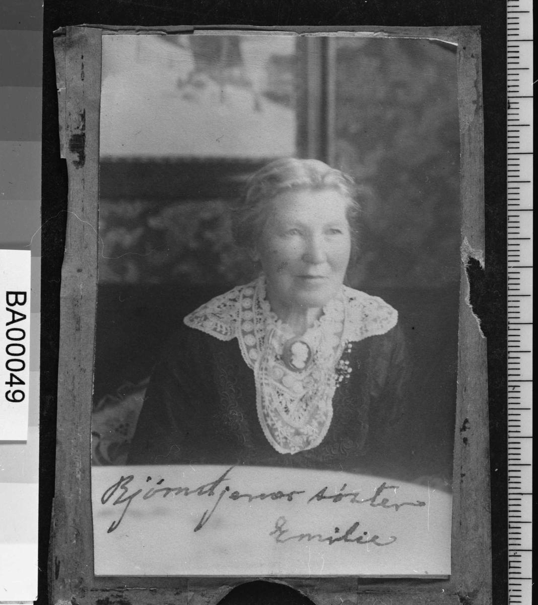Emilie Bjørnson, portrett, søster,