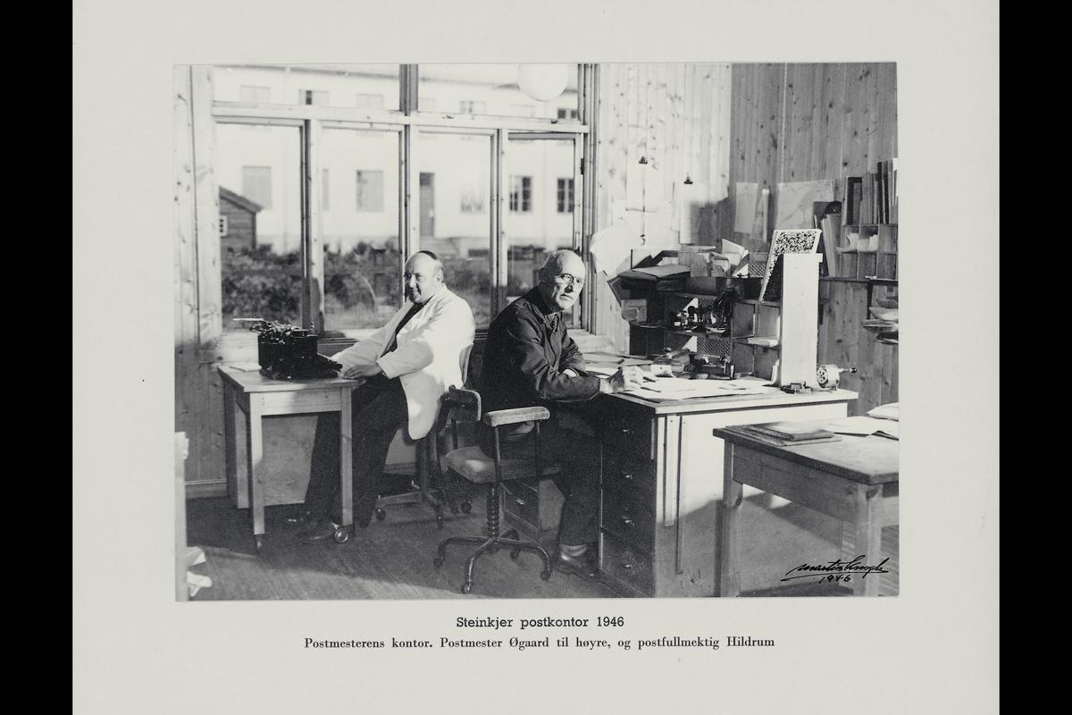 interiør, postkontor, 7700 Steinkjer, kontor, skrivemaskin, personale