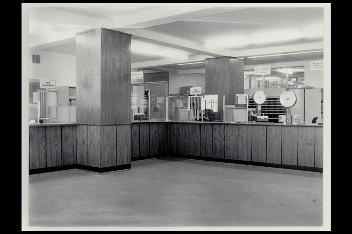 interiør, postkontor, 3100 Tønsberg, publikumshall, vekt